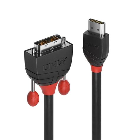 1 5m Hdmi Cable Black 5m hdmi to dvi cable black line from lindy uk
