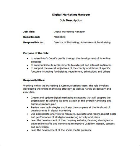 sales marketing manager job description jobisjob united states
