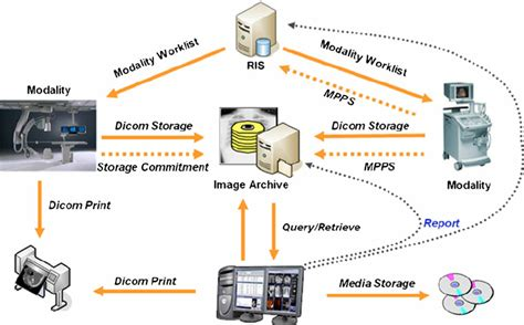 dicom workflow fig 1 pacs dicom services and processes workflow