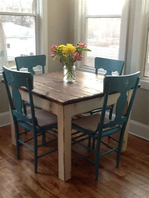 white square kitchen table and chairs unique primtiques primitive walnut stained country