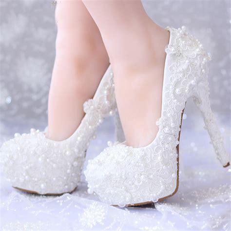 white lace high heels white lace wedding shoes high heels handmade bridal dress