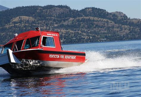 lake rescue boats safety on okanagan lake enhanced with launch of new rescue