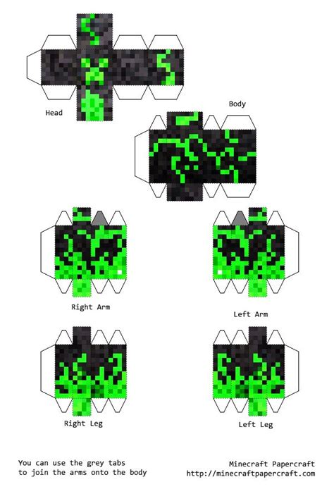 Minecraft Papercraft Creeper - pin by 243 on minecraft decorations