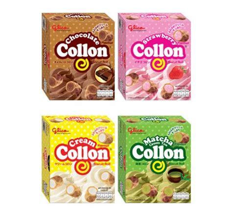 Glico Collon 4 flavours glico collon biscuit roll fill with chocolate