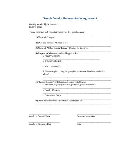 10 Vendor Agreement Templates Free Sle Exle Format Download Free Premium Templates Vendor Partnership Agreement Template