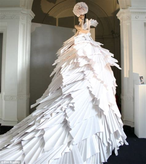 Clothes Out Of Paper - zoe bradley to create dress made entirely out of paper for