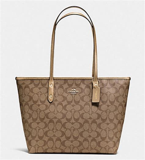 Tas Coach Signature Shooping Tote City Zip Bags 2in1 3025 3 luxurycometrue coach city zip tote in signature khaki