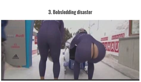 Olympic Bobsled Wardrobe Malfunction by Bobsled