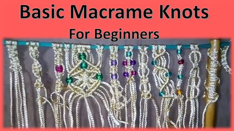 Beginner Macrame - basic macrame knots for beginners learn basic macrame