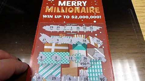 Instant Win Lottery Tickets - big win quot merry millionaire quot new 20 instant lottery