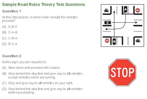 drive questions northern territory sle road theory test darwin