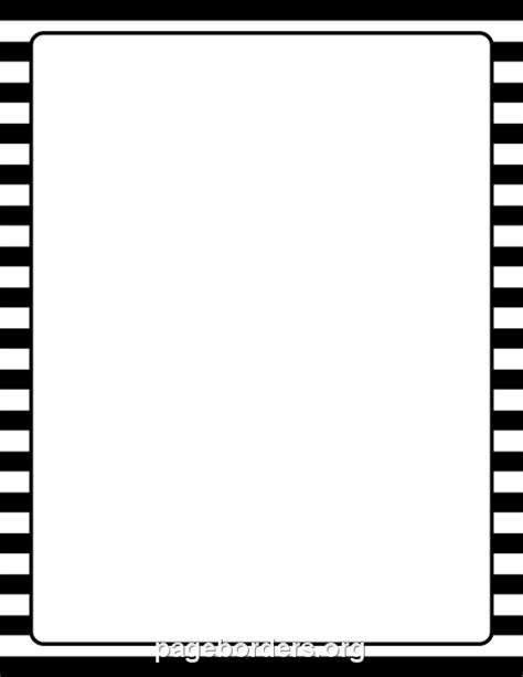 White Border Striped black and white page borders clipart best