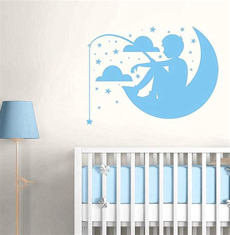 a dreamy nursery wall decal for a boy s room decoist