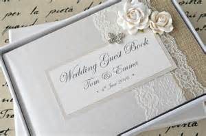 Photo Album Sets Luxury Personalised Wedding Guest Book Amp Album Set Lace Rose Amp Butterfly Design Creative Bridal