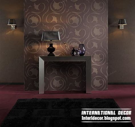brown living room wallpaper modern living room wallpaper design ideas interior