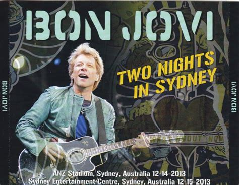 bon sydney bon jovi two nights in sydney 4cdr giginjapan