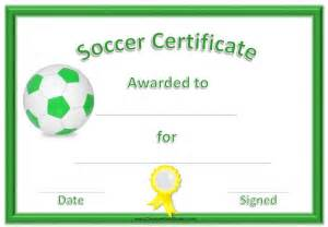 soccer template soccer award certificate template customize