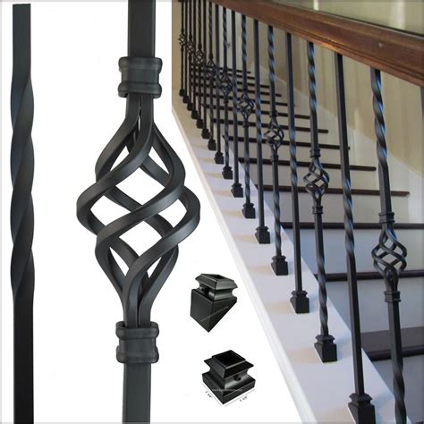 Metal Railing Spindles High Quality Iron Balusters For Stair Railing Balconies