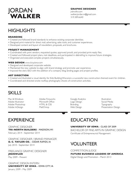 resume graphic design illustration identity and
