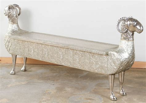 bench india two headed ram indian dowry bench at 1stdibs