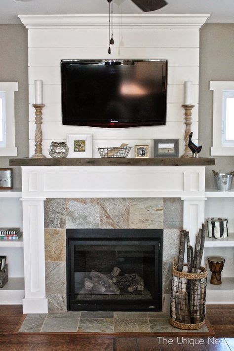 Redoing Fireplace Mantel by 25 Best Ideas About Shiplap Fireplace On
