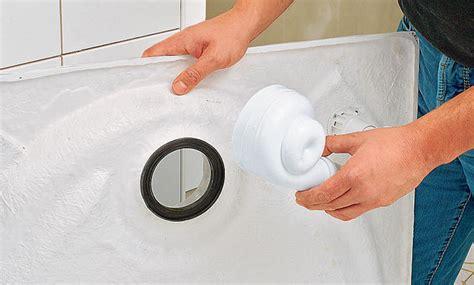 duschtasse einbauen duschwanne abfluss einbauen gispatcher