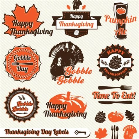 printable thanksgiving stickers thanksgiving clipart and autumn vectors to download free