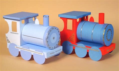 How To Make Paper Trains - crafts free card templates