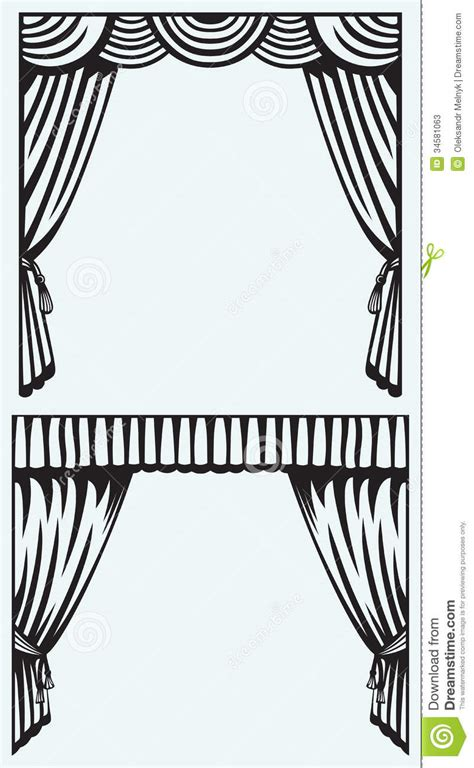 drapes and silhouettes silhouette curtain stock photos image 34581063