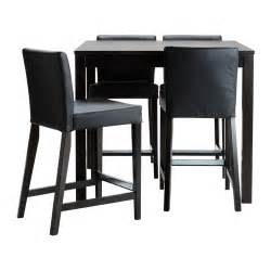 Bar Stool Kitchen Tables Bjursta Henriksdal Bar Table And 4 Bar Stools Ikea
