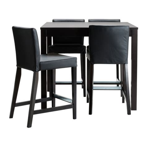 Kitchen Tables With Bar Stools by Bjursta Henriksdal Bar Table And 4 Bar Stools