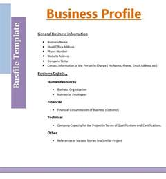 business templates free business profile format free word s templates