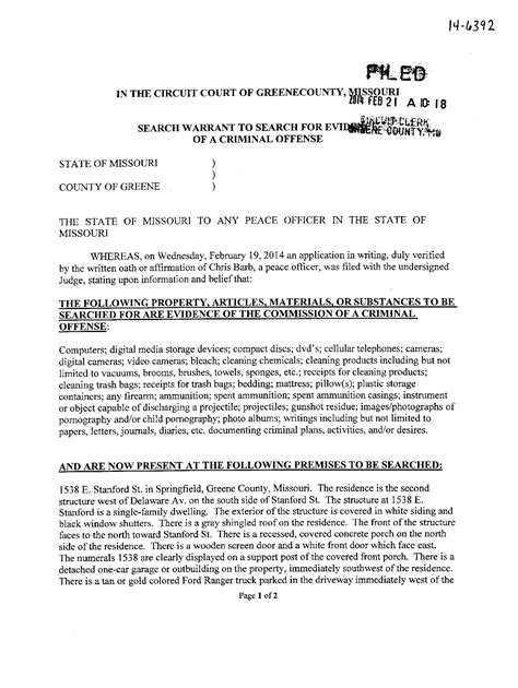 Springfield Mo Warrant Search Craig Michael Wood Springfield Missouri Arrested Feb 2014 Murder Child
