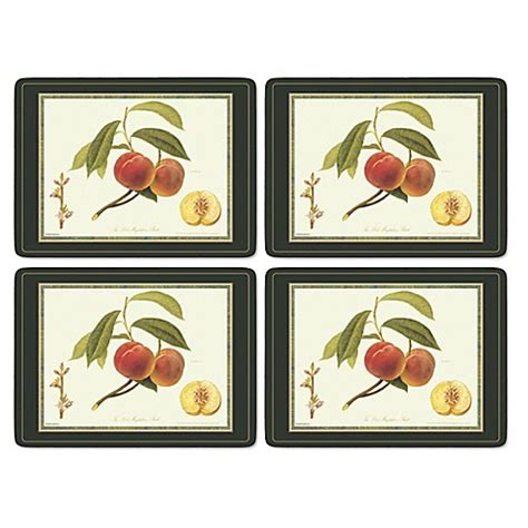 placemats bed bath and beyond pimpernel royal horticultural society hooker fruits placemats set of 4 bed bath
