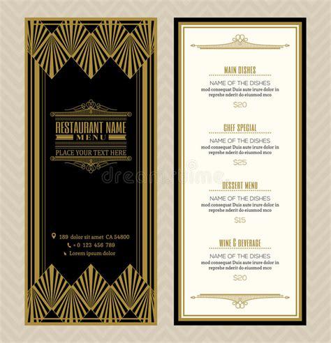 design menu vintage restaurant or cafe menu design template with vintage retro