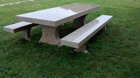 mesa piedra jardin mesa de piedra en jard 237 n construper