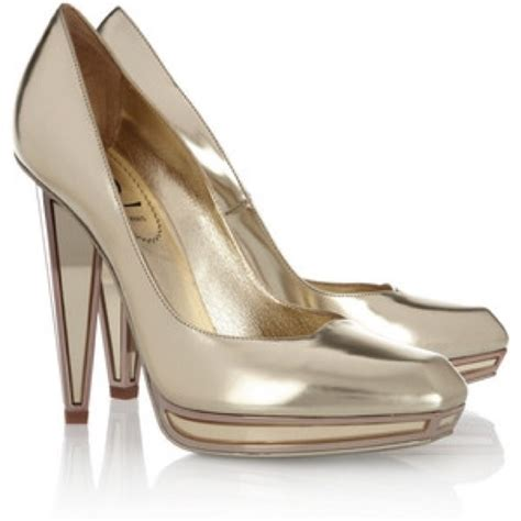 Ysl Heels by 57 Yves Laurent Shoes Ysl Vanda Gold Mirrored