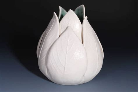 decorating pottery tulip vase handmade ceramics home decorating photo