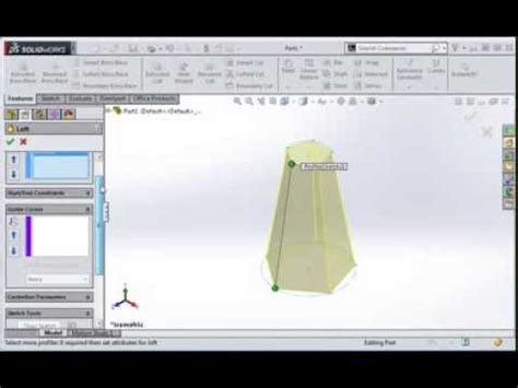 tutorial solidworks loft introduction to the loft command in solidworks youtube