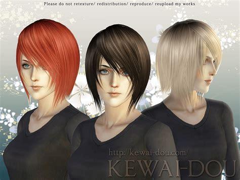levi hair for the sims3 kewai dou shikishima hair for the sims3 kewai dou