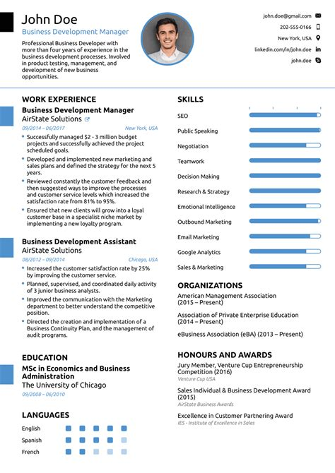 It Resume Template by 2018 Professional Resume Templates As They Should Be 8