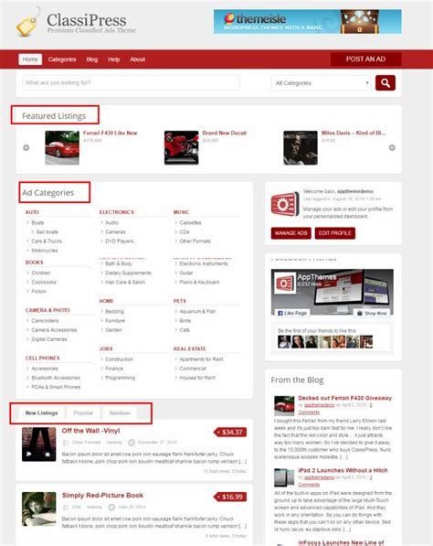 themes wordpress demo classipress review appthemes classified theme legit review