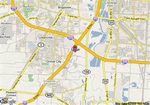 Grove City Ohio Map by Map Of Best Western Executive Inn Grove City