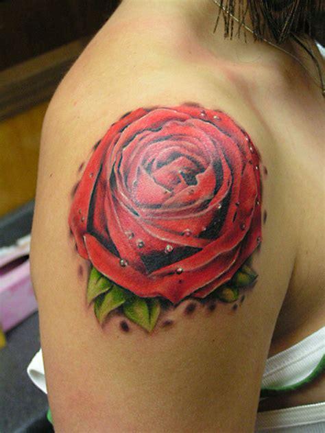 red rose tattoo on shoulder 25 sensational shoulder tattoos slodive