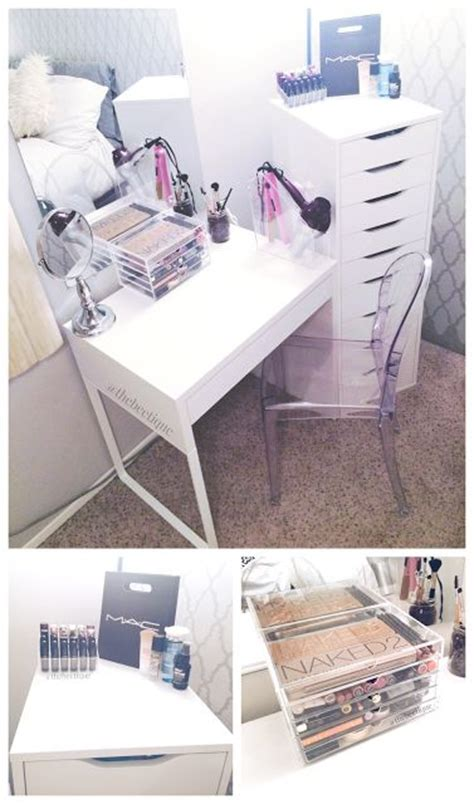 ikea micke desk drawer organizer diy white ikea vanity makeup organization louis ghost