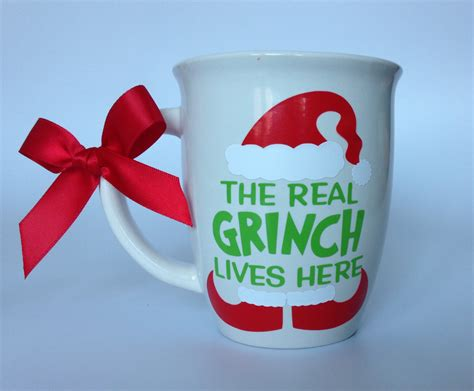 The Real Grinch Lives Here/ Funny Mug/ Mother in Law mug/