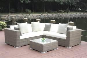 Gartenmobel Rattan Ausverkauf Rattan Lounge Ben Grau Living Zone