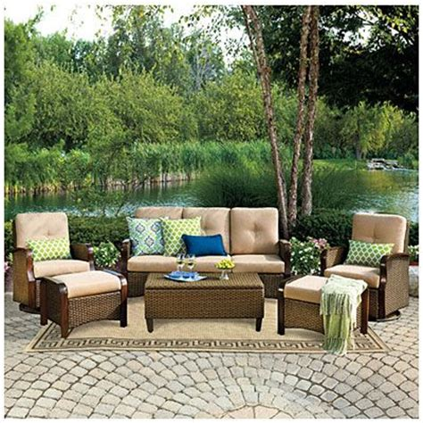 Wilson Fisher 174 Tuscany Resin Wicker 6 Piece Seating Set Wilson And Fisher Wicker Patio Furniture
