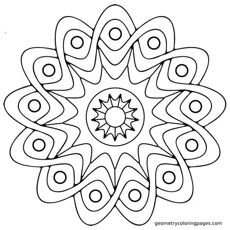 Easy Coloring Pages To Print For Adults | mandala coloring pages easy mandala coloring pages