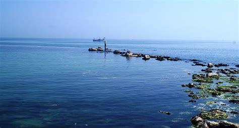 adriatico pesaro mare adriatico in bonaccia dal moletto di pesaro foto